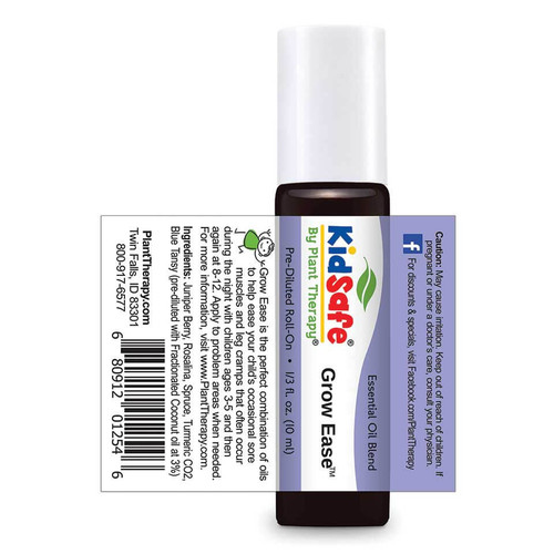 Kidsafe Grow Ease KidSafe Pre-Diluted  Essential Oil 10 mL Roll On by Plant Therapy
