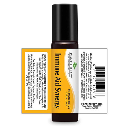 Immune Aid Synergy Pre-diluted Essential Oil 10 mL ROLL ON by Plant Therapy