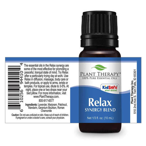 Relax Synergy Essential Oil 10ml DROPS by Plant Therapy