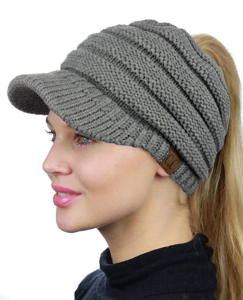 Knit Beanie Tail Cap by CC Beanie