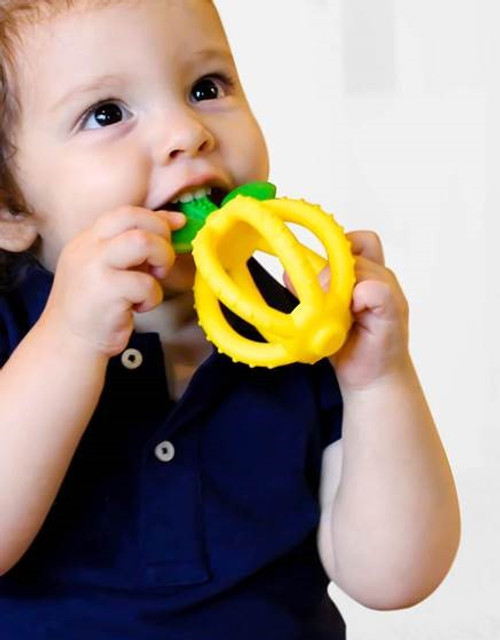 Bitzy Biter Lemon Drop Teether Ball by Itzy Ritzy