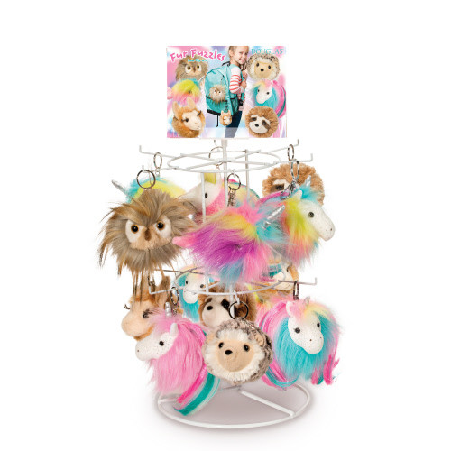 Rainbow Narwhal Fur Fuzzle Charm - Douglas Toys