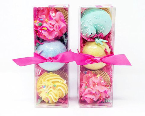 Mini Cupcake/Bath Bomb Trio Set Random by Feeling Smitten