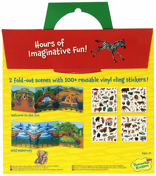 At The Zoo Reusable Cling Sticker Tote