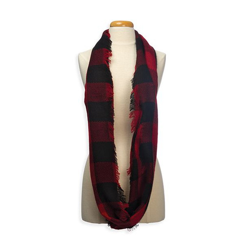 Buffalo Plaid Woven Infinity Scarf by L.I.B.