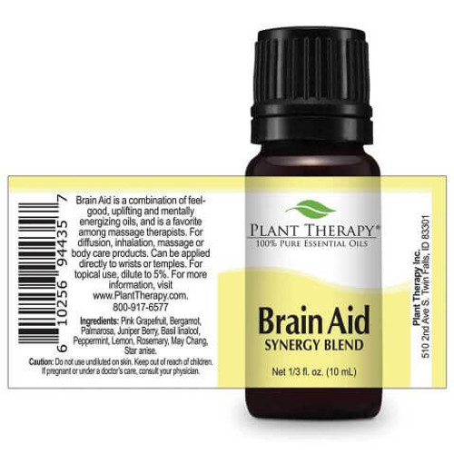 Brain Aid Synergy Essential Oil 10ml DROPS by Plant Therapy