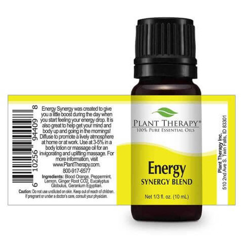 Energy Synergy Essential Oil 10ml DROPS by Plant Therapy