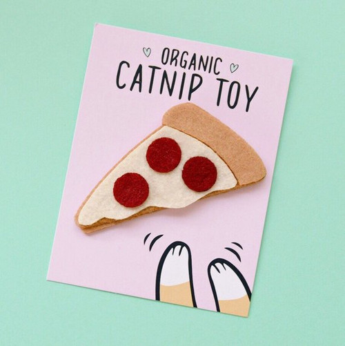 Organic Catnip Pizza Cat Toy by Housecat Club