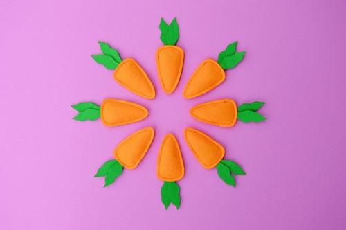 Organic Carrot catnip Toy by Housecat Club