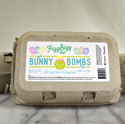 Bunny Egg Bath Bombs set by Fizz Bizz