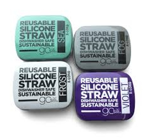 Straw Single XLong w/Tin by GoSili
