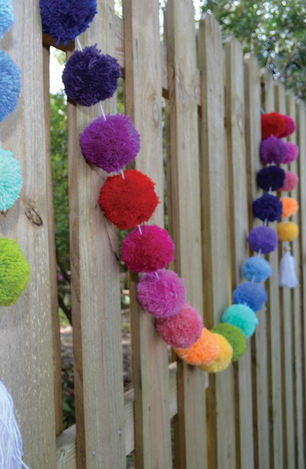 BUNTING POM POM IN RAINBOW 10ft by O.B.Designs