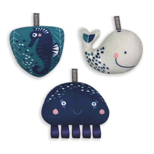 WHALE OF A TIME 3 PIECE TOY SET with Hangers by O.B.Designs