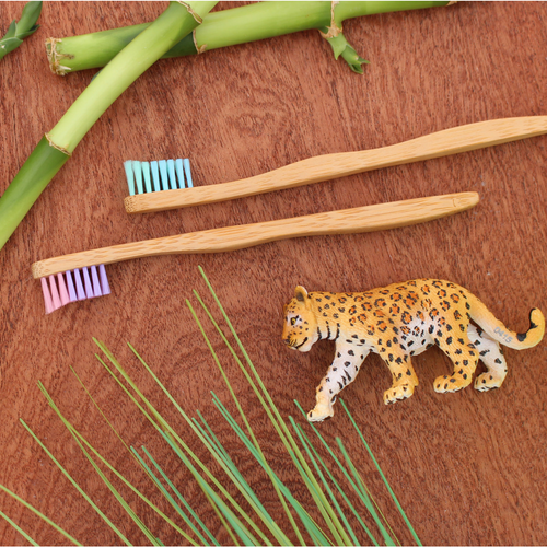 Kids Bamboo Toothbrush SUPERHERO BLUE by The Future is Bamboo
