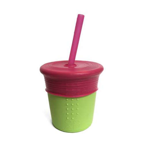 8 oz Silicone Cup with Straw and Siliskin Top by GoSili