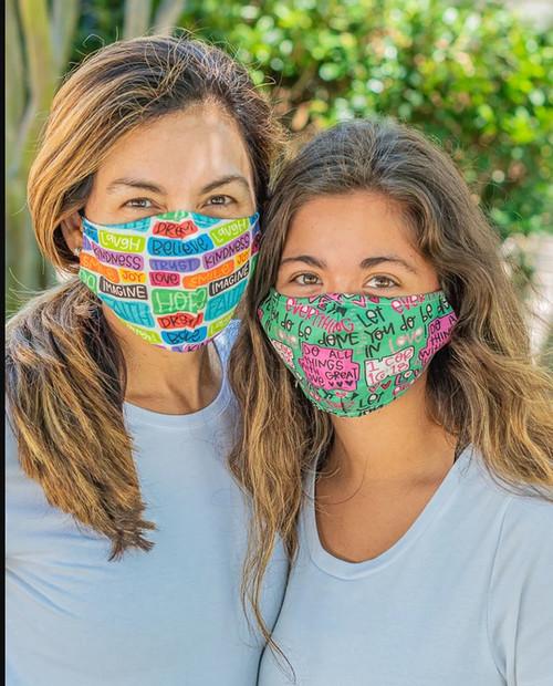 Hope Faith Love Face Covering Mask