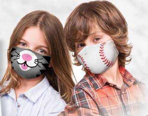 Kids Face Masks with Adjustable Ears - Kitty