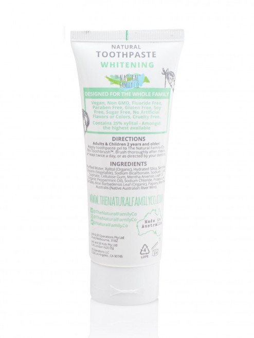Whitening Toothpaste The Natural Family Company