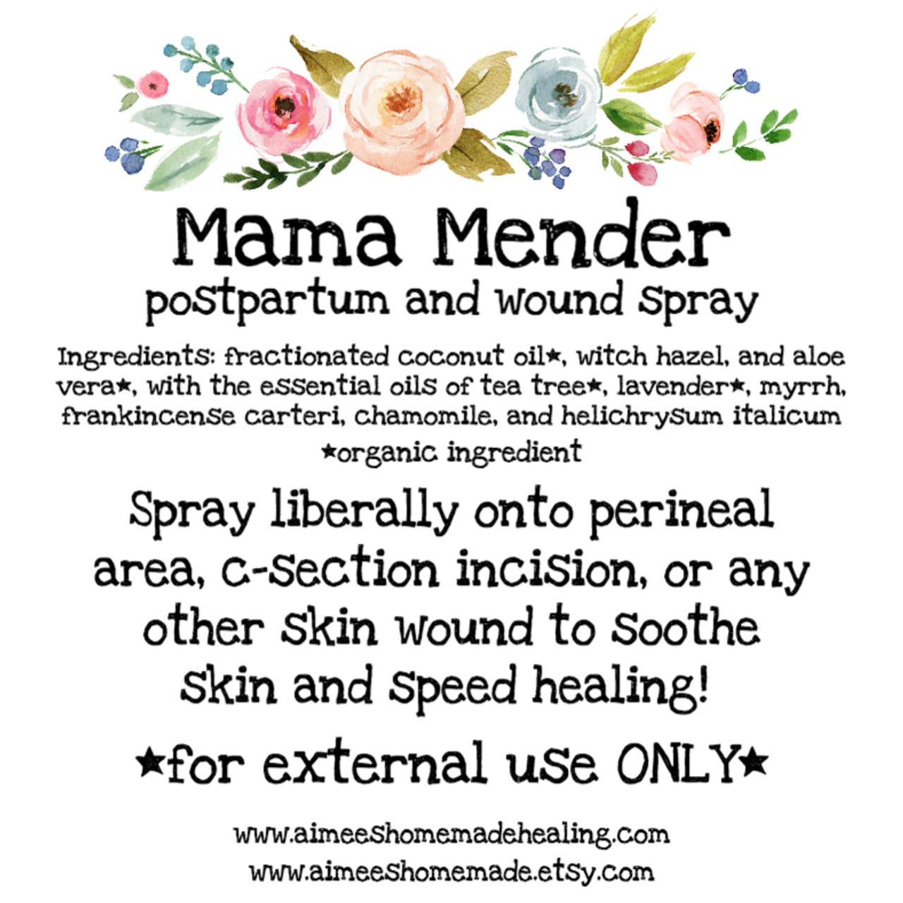 Mama Mender Spray (PostPartum and Wound Care)