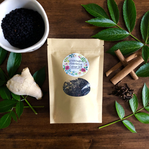 Large Wildcrafted Elderberry Syrup Kit