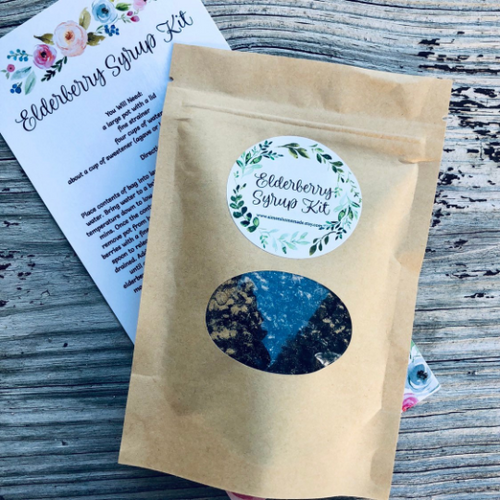 Small Organic Elderberry Syrup Kit