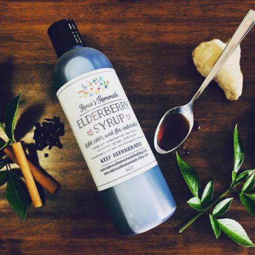 Vegan Elderberry Syrup 16oz Pint