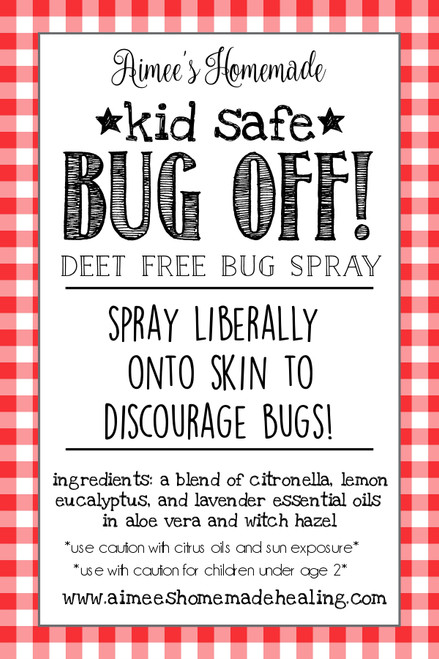 Kid Safe Bug Off! All Natural Insect Repellant