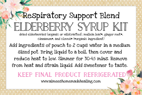 Respiratory Support Elderberry Syrup Kit