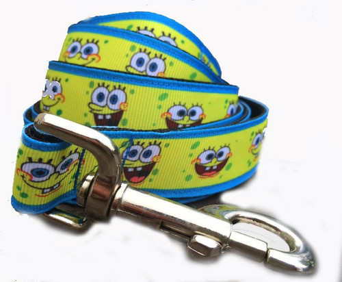 """Leashes are all made with heavy duty 1"""" wide webbing. The Heavy duty nickel plated swivel snap hooks come with a 1"""" rectangle shaped swivel head. Triple stitched on every high pressure point. Gently hand wash and air dry. Hand made in the USA."""