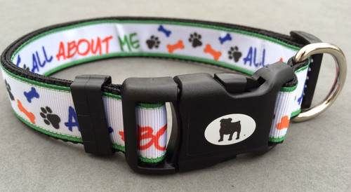 "Collars are made with contoured snap lock buckle and heavy duty hardware on 1"" wide webbing.All collars have a matching harness and leash to complete the look. Gently hand wash and air dry. Hand made in the USA."
