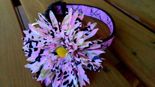 Dozer's Camo Cutie Collar with detachable flower