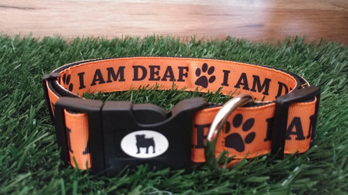 """Collars are made with contoured snap lock buckle and heavy duty hardware on 1"""" wide webbing.All collars have a matching harness and leash to complete the look. Gently hand wash and air dry. Hand made in the USA"""