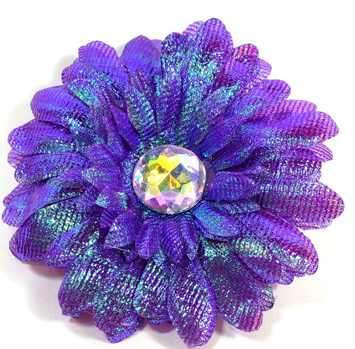 beautiful flower to add to your favorite collar, harness or leash. Comes with a velcro loop for easy changing