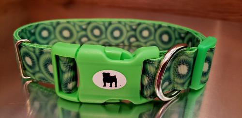 """A Bulldog's World Stylish Paws.  All items are made with 1"""" wide heavy polypropylene webbing. All hardware is high grade and heavy duty. Gently hand wash and air dry. Hand made in the USA."""