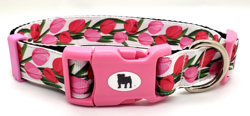 """A Bulldog's World! All items are made with 1"""" wide heavy polypropylene webbing. All hardware is high grade and heavy duty. Gently hand wash and air dry. Hand made in the USA Available in collars leashes Harnesses Lanyards and KeyFobs"""
