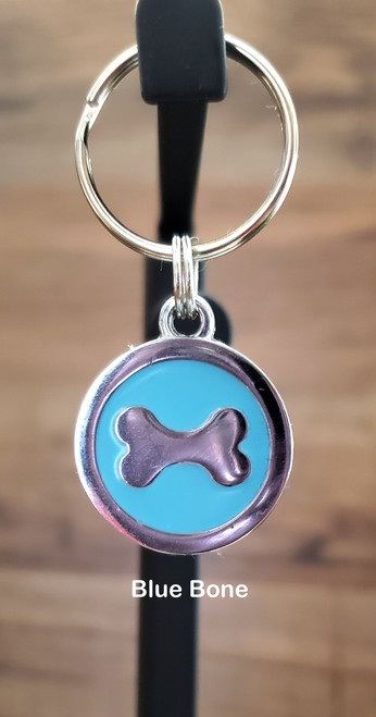 You can add this charm to either a small or large collar order or a key fob but it can not be order separate.  The charm can not be attached to a harness or leash. Please state in the comments section at the checkout, what charm you want attached to what collar or key fob... thanks
