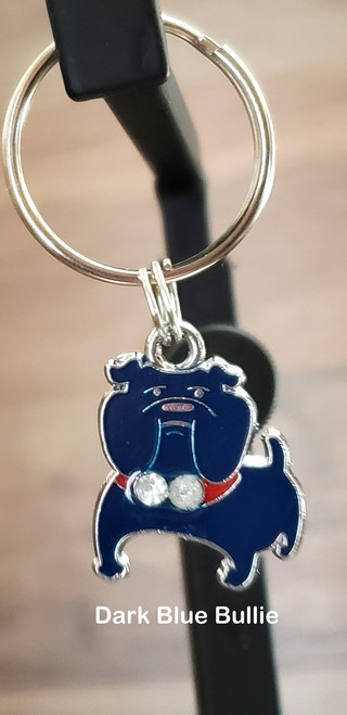You can add this charm to either a small or large collar order or a key fob but it can not be order separately .  The charm can not be attached to a harness or leash. Please state in the comments section at the checkout, what charm you want attached to what collar or key fob... thanks