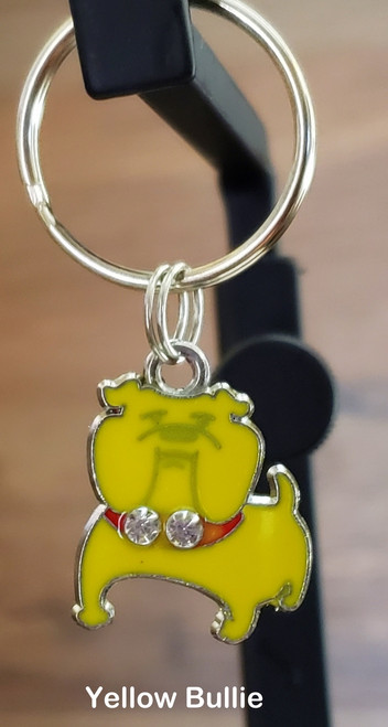 You can add this charm to either a small or large collar order or a key fob but it can not be ordered separately .  The charm can not be attached to a harness or leash. Please state in the comments section at the checkout, what charm you want attached to what collar or key fob.