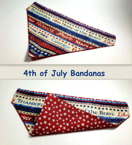 reversible bandana that slips onto any existing collar. Great fashion accessory that shows your pride in your Nation