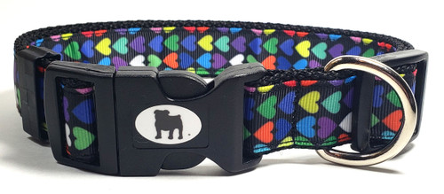 "A Bulldog's World! All items are made with 1"" wide heavy polypropylene webbing. All hardware is high grade and heavy duty. Gently hand wash and air dry. Hand made in the USA."