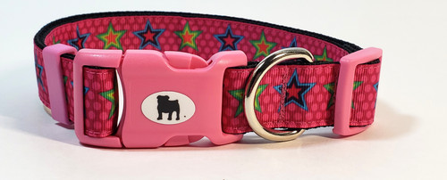 """A Bulldog's World! All items are made with 1"""" wide heavy polypropylene webbing. All hardware is high grade and heavy duty. Gently hand wash and air dry. Hand made in the USA."""