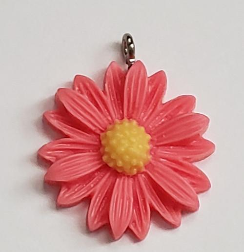 Dark pink daisy charm