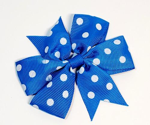 Sky Blue Polka Dot Bow