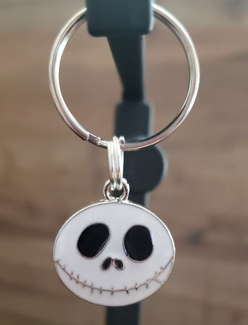 Jack Skellington Charm looks great with any of the many Halloween Patterns we have available