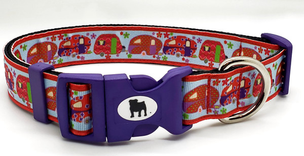 """A Bulldog's World! All items are made with 1"""" wide heavy polypropylene webbing. All hardware is high grade and heavy duty. Gently hand wash and air dry. Hand made in the USA"""