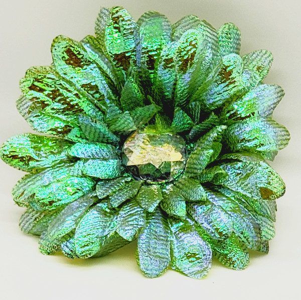Shimmering Emerald Flower