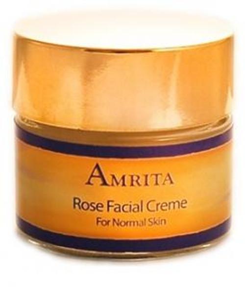 Amrita Aromatherapy Rose Facial Creme for Normal Skin 1oz