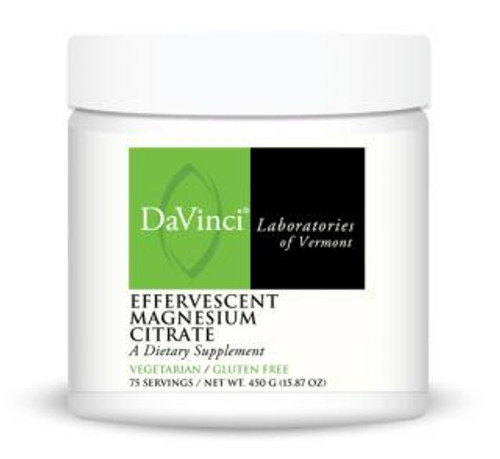 Davinci Labs EFFERVESCENT MAGNESIUM CITRATE 75 Servings 450 Grams (15.87 oz)