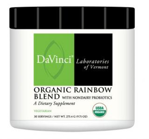 Davinci Labs ORGANIC RAINBOW BLEND WITH NONDAIRY PROBIOTICS 30 Servings 275.4 Grams (9.71 oz)
