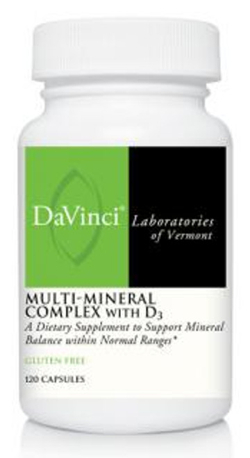 Davinci Labs MULTI-MINERAL COMPLEX WITH D3 CAPSULES 120 capsules